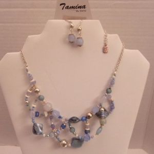Nwts unique Tamina necklace & earrings. M72-7